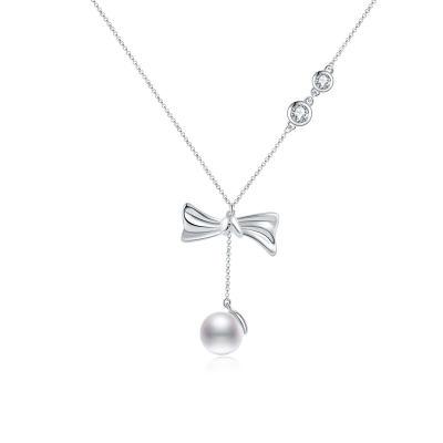 爱情如结-18k白珍珠项链