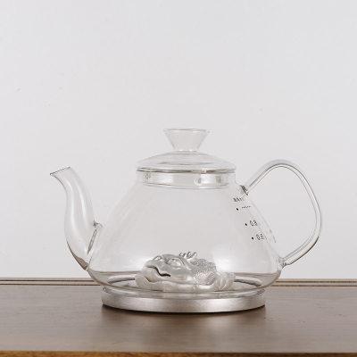 天官赐足银玻璃养生银壶-荷包鼓鼓系列赠电陶炉套装烧水壶观赏壶