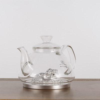 天官赐足银玻璃养生银壶-金鳞化龙系列赠电陶炉套装