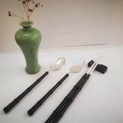 银木赋 足银本色檀木碗筷勺套装纯银餐具套装自用送礼佳品