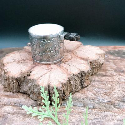 匠艺德-足银仿古茶具-清明上河图杯子