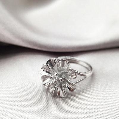 梦幻牡丹 S925银素银戒指