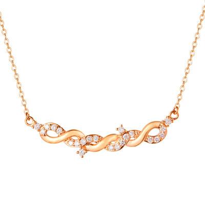 幸福少女-AU750玫瑰金色钻石套装