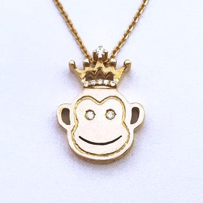 幸福珠宝专柜正品幸福感悟幸福千面七十二变AU750金玫瑰色钻石套链送女友闺蜜