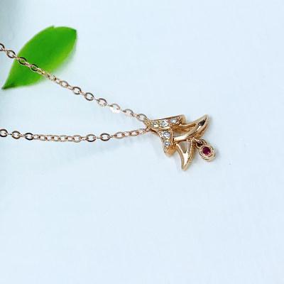18k 金玫瑰色钻石套链