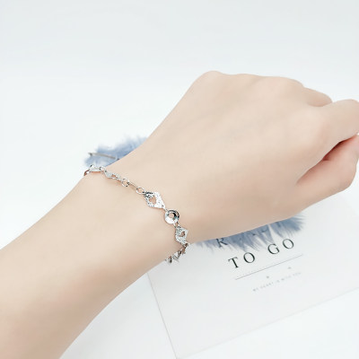 花爱 S925银 素银 手链