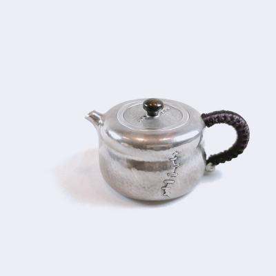 匠义-足银仿古茶具-侘寂泡茶壶