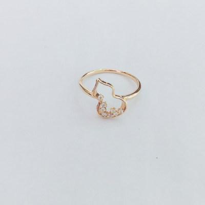幸福成果18K金玫瑰色钻石女款戒指