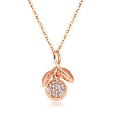 幸福果实 18k金 套链 AU750金玫瑰色钻石套链