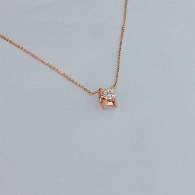 幸福演奏18K金玫瑰色钻石套链