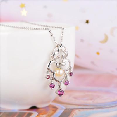 百缘百合 S925银珍珠吊坠