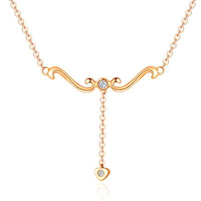 幸福梦想 18K金玫瑰色钻石套链