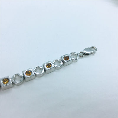 S925银天然黄晶手链