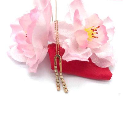 18K玫瑰色钻石套链