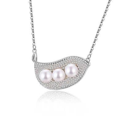 S925银电白珍珠项链