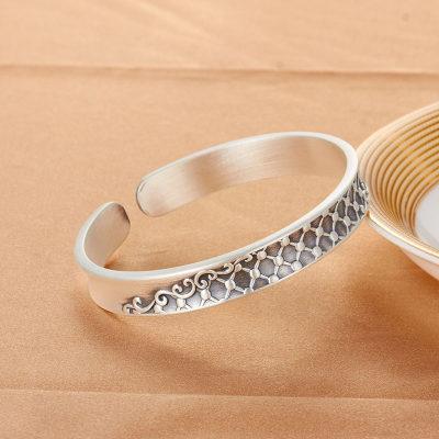 腕儿 999纯银手镯如意相思创意银饰银镯子女款送老婆送妈妈