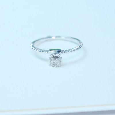 幸福单身18钻石戒指