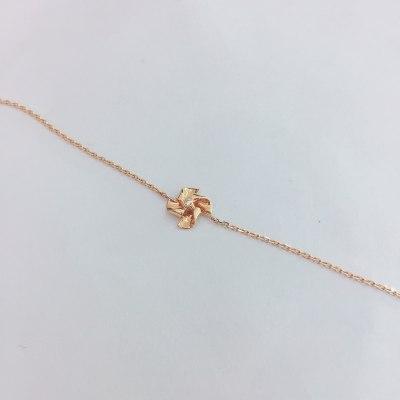 幸福梦想18K金玫瑰色钻石手链