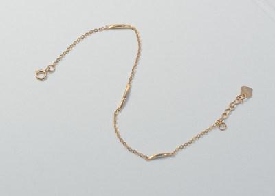 AU750金玫瑰色钻石手链