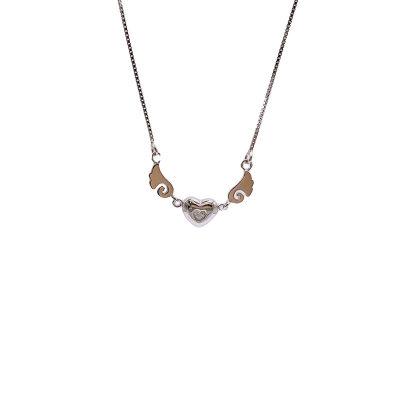 心之赋S925银电白立方氧化锆套链