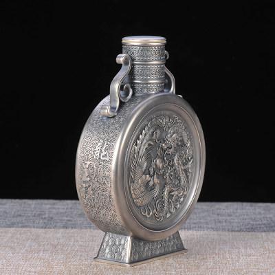 银酒赋-纯银龙凤呈祥酒壶