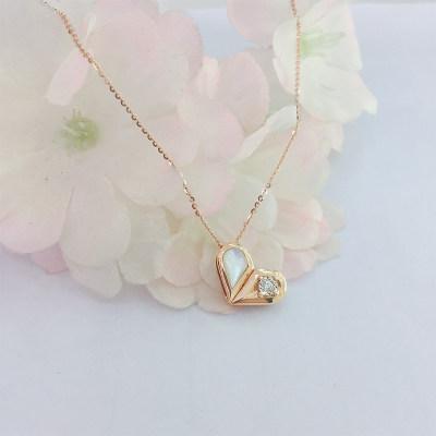 幸福百变18k金玫瑰色钻石套链