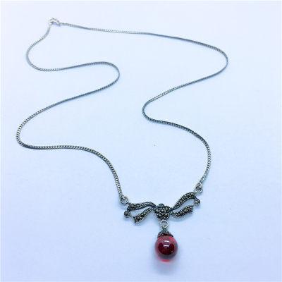 皇古银S925银玻璃套链