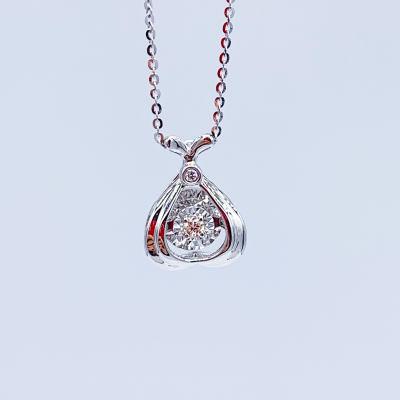 幸福浪漫-18k白色钻石套链