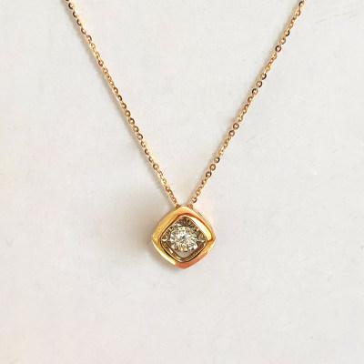 幸福欢喜心专柜正品 18K钻石套链 日常穿搭必备