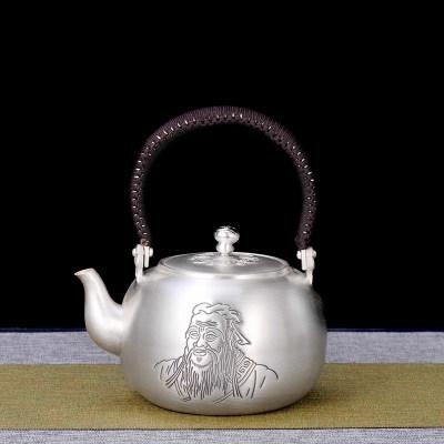 艺魂足银本色茶具礼品-万世师表