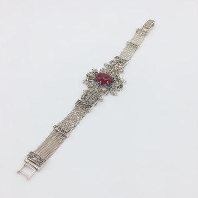 中宝百艺S925银玛瑙手链
