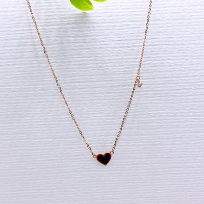 幸福七夕AU750金玫瑰色合成氧化锆套链