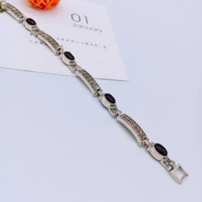 阿西娜s925银玛瑙手链