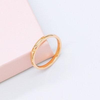 幸福之源18K素金戒指