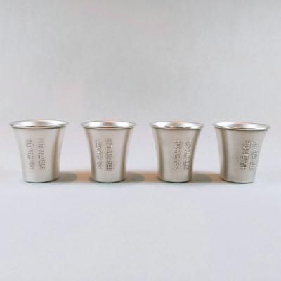 冠爵-足银仿古酒具-单杯