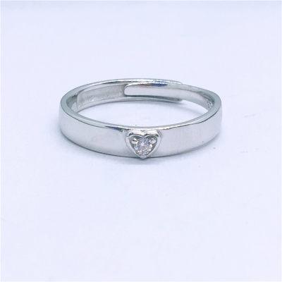 爱情城堡 S925合成立方氧化锆镶嵌女款活口戒指