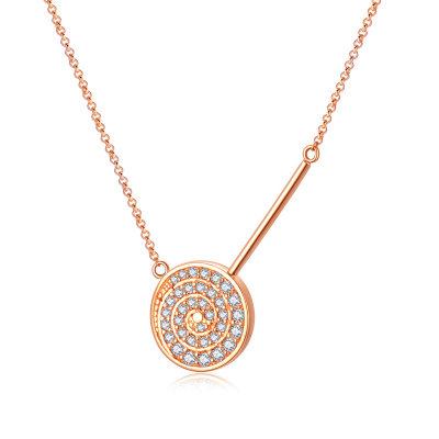幸福未来18K金玫瑰色钻石项链套链
