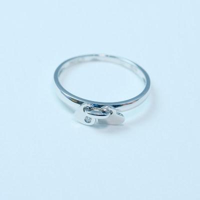 幸福单身18k钻石戒指