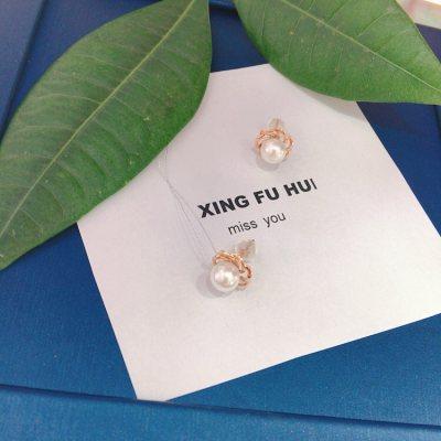幸福小珠—珍珠耳钉