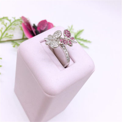 蝴蝶堡-s925银合成立方氧化锆戒指
