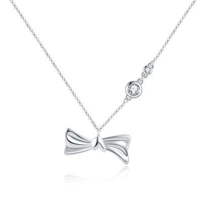 爱情如结 18k白钻石套链