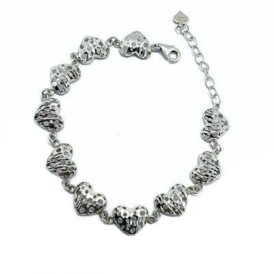 明福S925银素银手链
