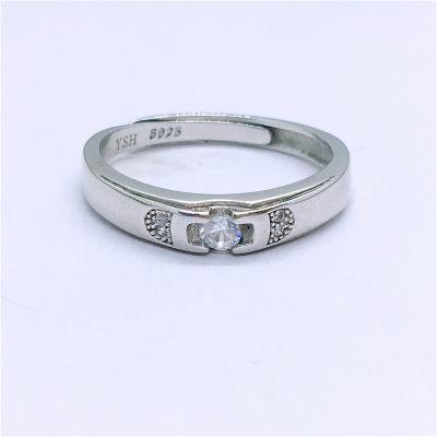 爱情城堡 S925银合成立方氧化锆镶嵌女款戒指