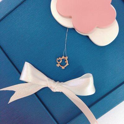 幸福小Q—玫瑰金钻石吊坠(小鸡)