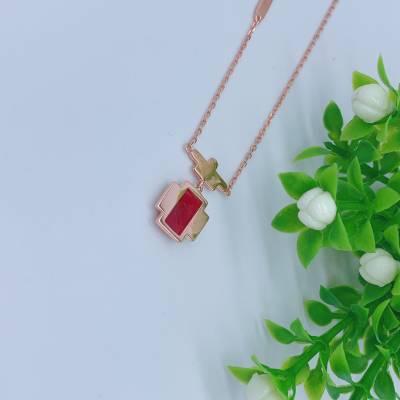 幸福百乐S925银红玛瑙套链