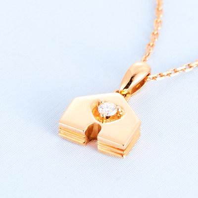 幸福之门 18K金玫瑰色钻石项链