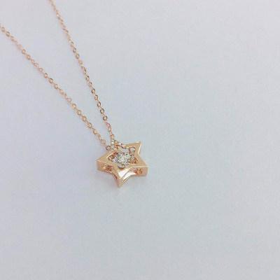幸福梦想18K金分色钻石套链