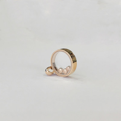 幸福之镜18K金玫瑰色时尚钻石吊坠