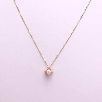 幸福姐妹系列18K金玫瑰色珍珠套链-002款式