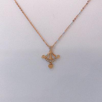 幸福猎人18K金玫瑰色钻石项链套链
